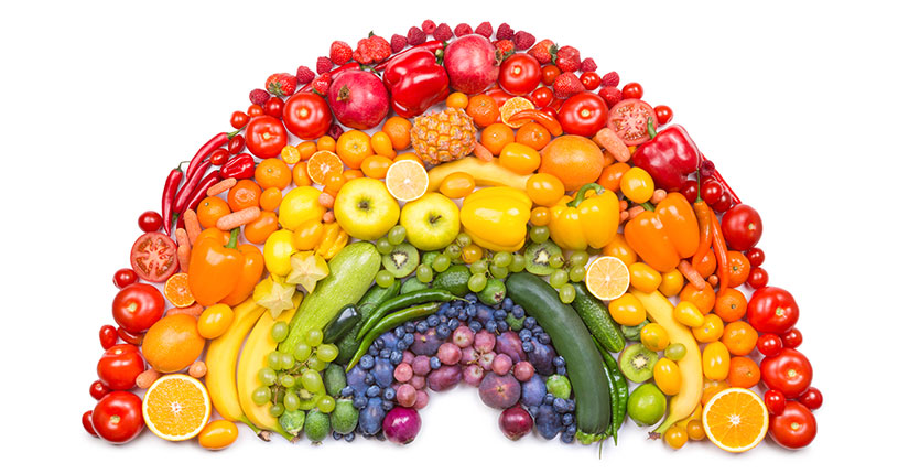 "A To Z of Health – ""F"" is to Fill your plate with rainbow colours of fruits"