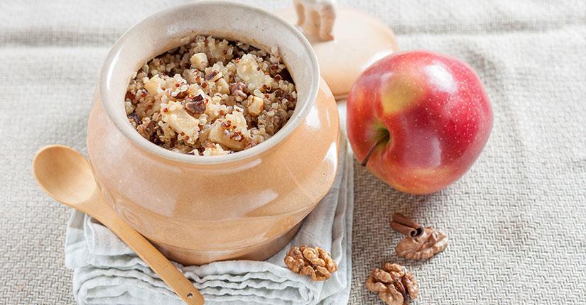Quinoa walnut porridge