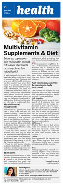 Multivitamin Supplements & Diet
