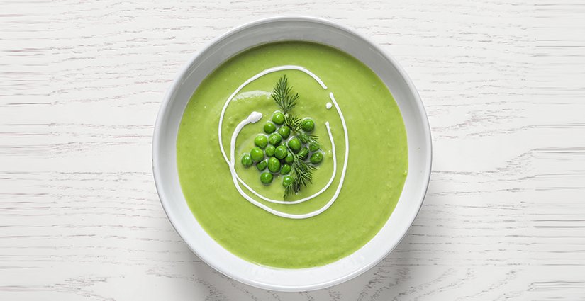 Green Peas and milk soup