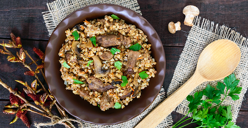 Mushroom Buckwheat Porridge