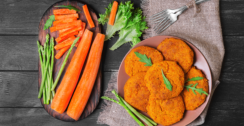 Baked Carrot cutlets
