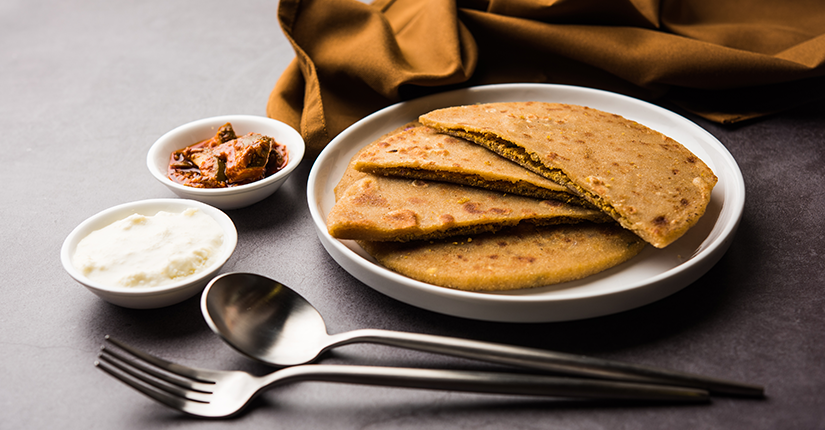 Moong Dal Stuffed Paratha