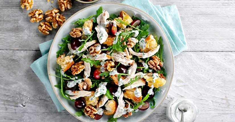 Mediterranean Salad with Walnuts