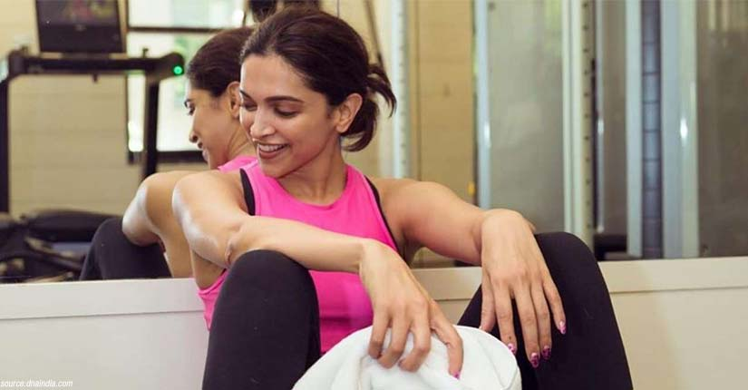 Deepika Padukone Adds a Funny Twist to her Fitness Session