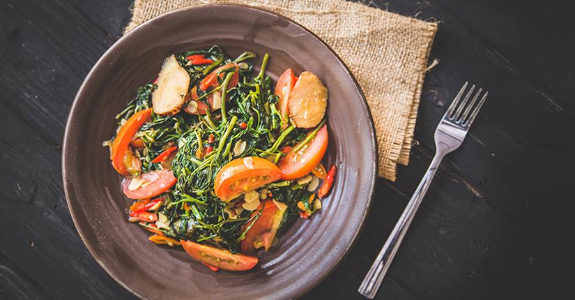 Spinach Garlic Stir Fry