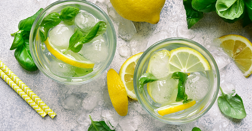 Frosty Basil Lemonade