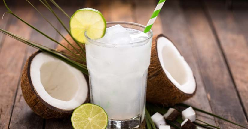 Coconut lemon cooler