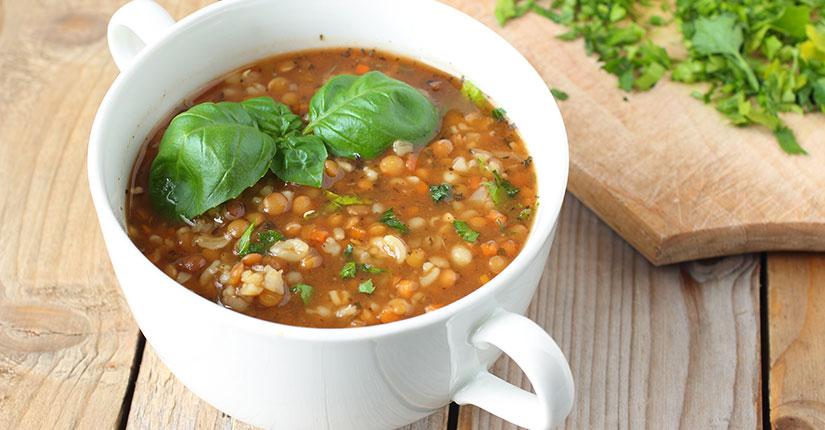Basil Lentil Soup