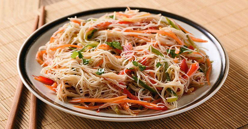 Rice and noodle Salad