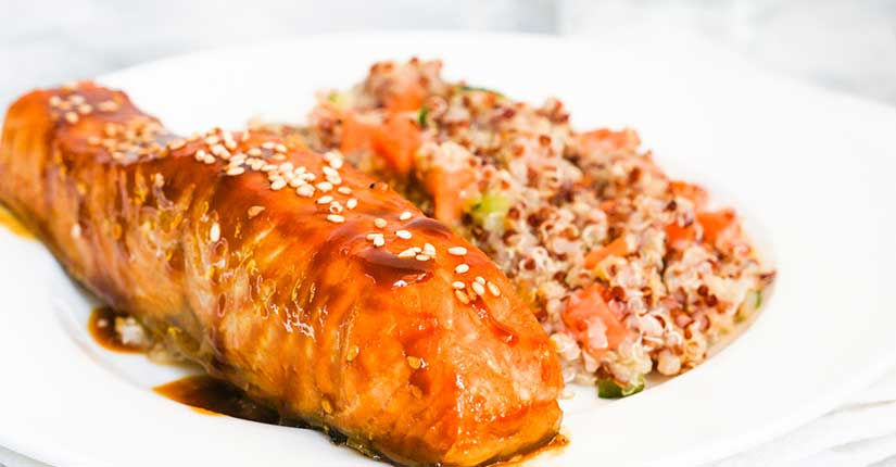 Cinnamon rubbed Salmon with Couscous & Yogurt