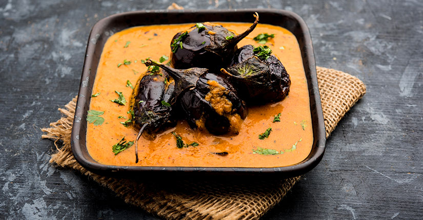 Mustard-Yogurt Eggplant Curry