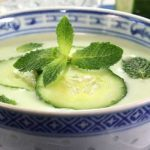 Cool mint cucumber Soup