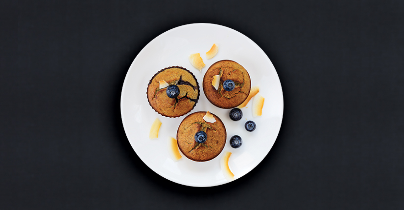 No Sugar Blueberry Muffins