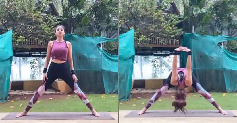 Shilpa Shetty Kundra Nails Prasarita Padottanasana in Her Latest Fitness Video