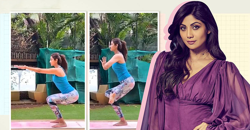 Yoga aficionado Shilpa Shetty Kundra recently shared a glimpse of her doing Utkatasana