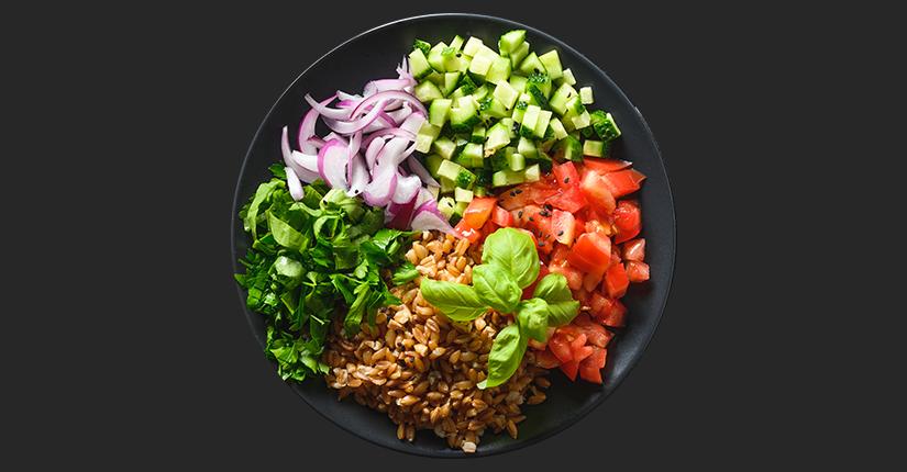 Whole grain Farro Salad