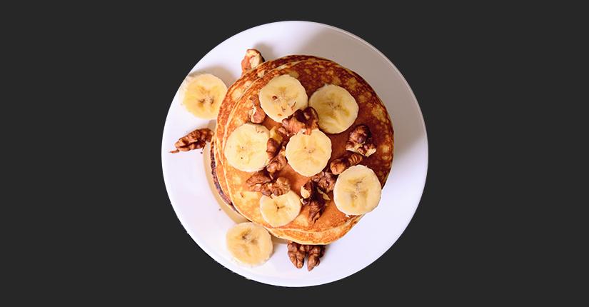 Sesame Banana Pancake
