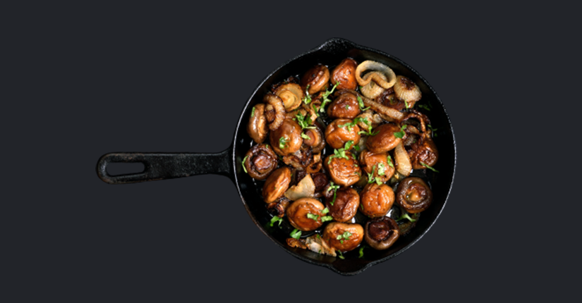 Spicy Garlic Mushrooms