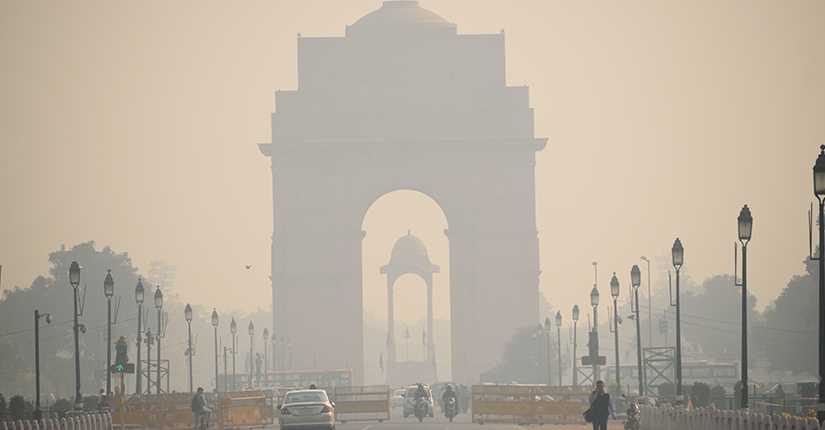 Delhi Suffocating with Air Pollution through a Blanket of Smog