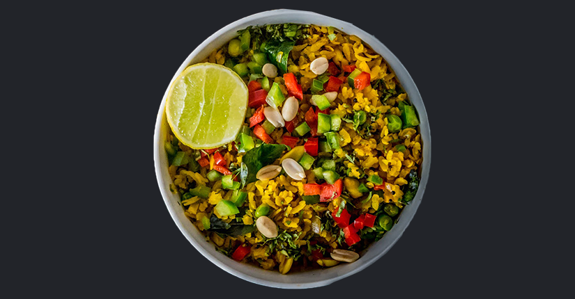 Peas and Tomato Poha