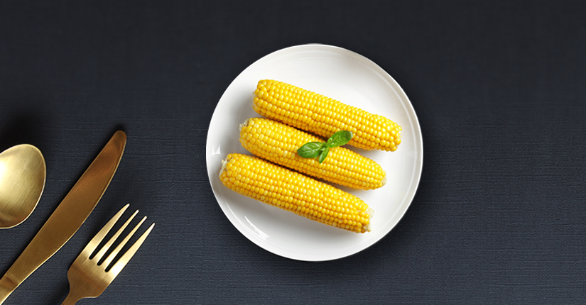 Sous Vide Corn on The Cob with Lemon and Jaggery Syrup