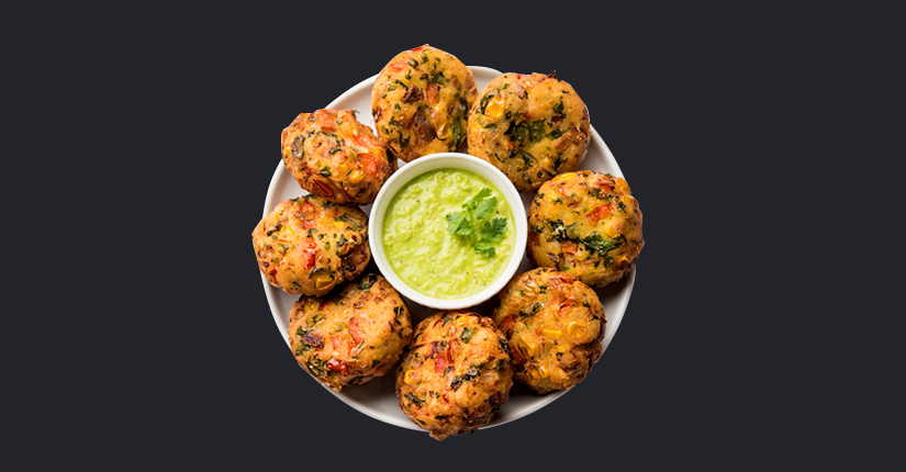 Spinach corn cutlets