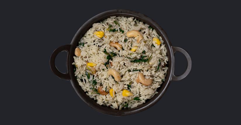 Zucchini-Methi Rice bowl