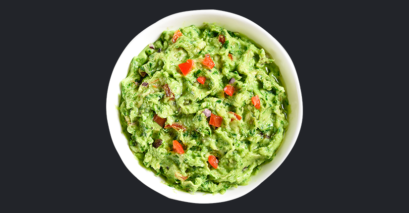 Guacamole with pomegranate pearls