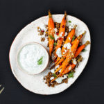 Roasted carrots with Cardamom