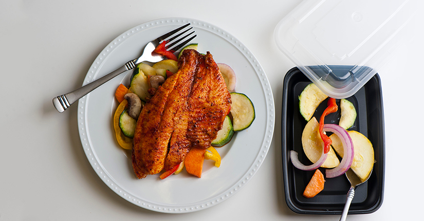 Salmon with Squash and Herbs