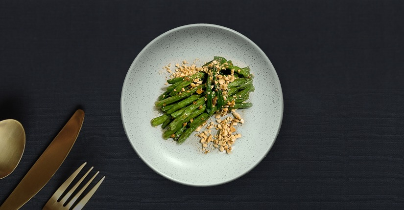 Garlicky Green Beans with Peanuts