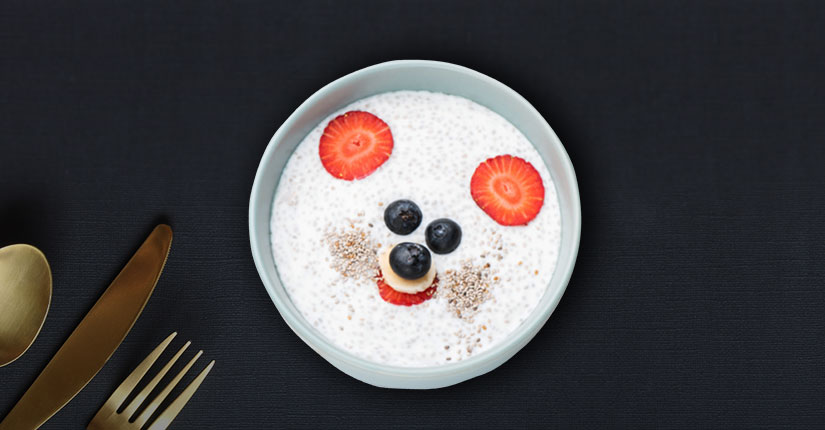 Strawberry oats kheer