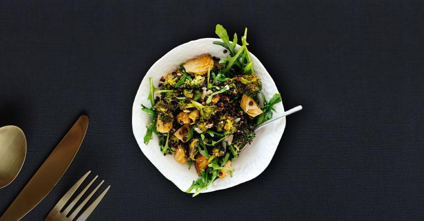Lentils and Broccoli Salad