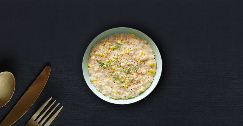 Oats Risotto with Corn