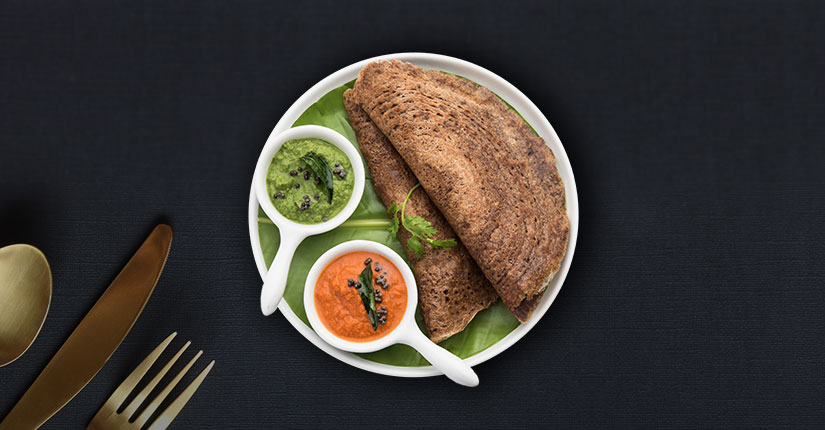 Millet Dosa with Vegetables
