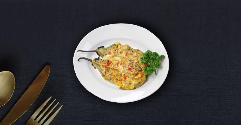 Roasted Eggplant Omelette