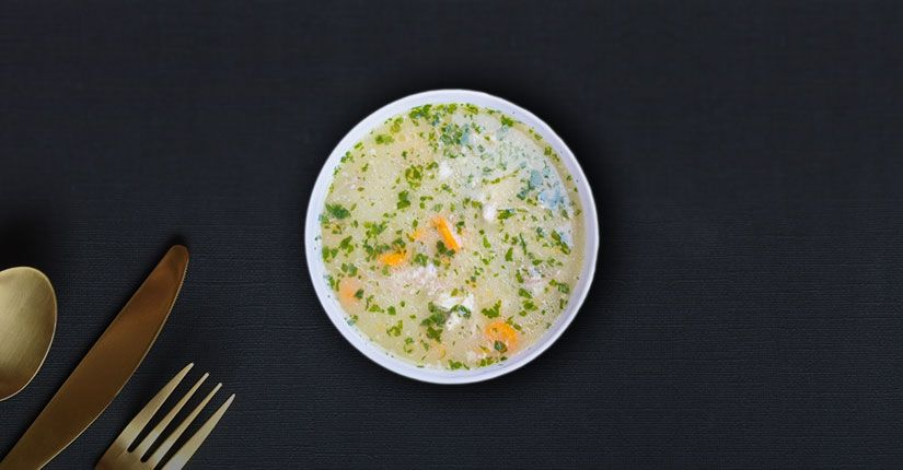 Oats and Roasted Capsicum Soup