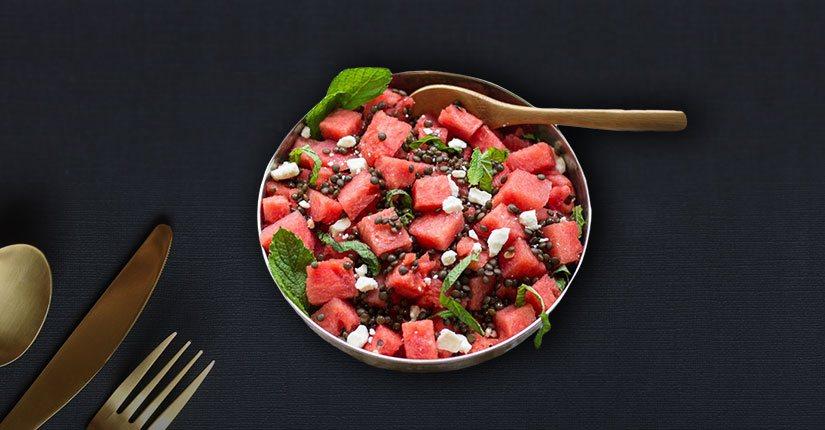 Refreshing Lentil-Watermelon Salad