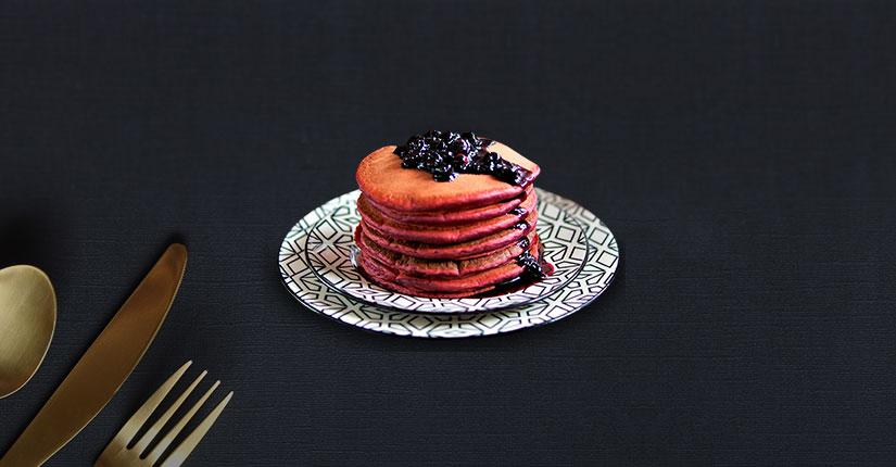 Pink protein pancake