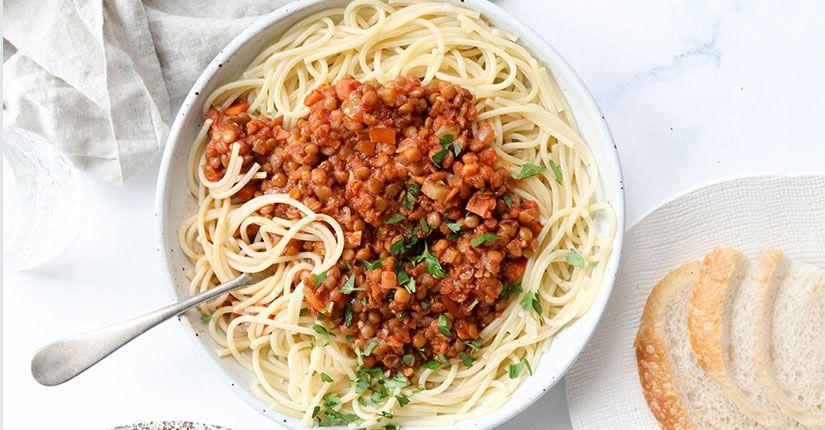 Easy Lentil Bolognese
