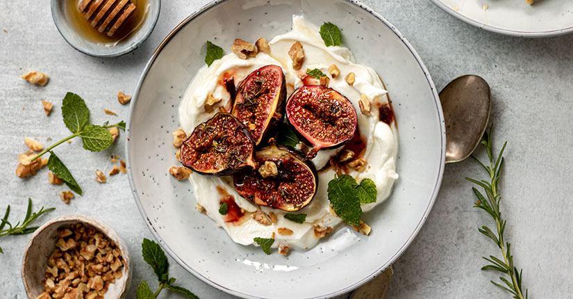 Roasted Fig and Walnut Yogurt
