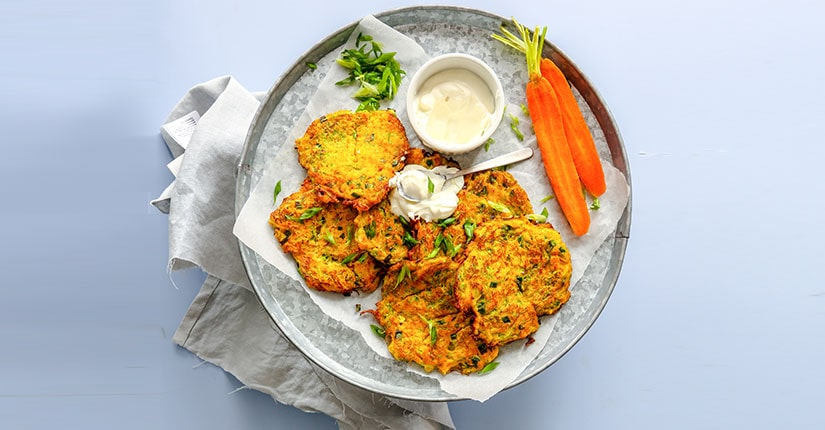 Carrot and Coriander Baked Fritters