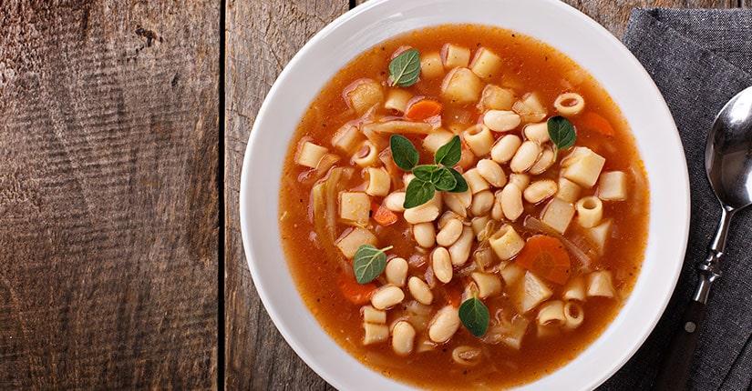 Tomato White Bean Garlic Soup