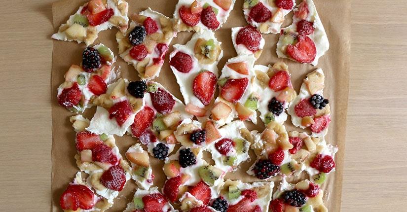 Fresh Raspberry Yogurt Bark