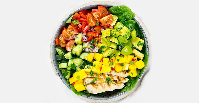 Mangolicious Chicken Edamame Salad