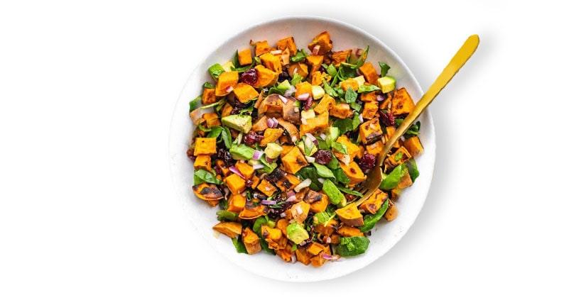 Grilled Sweet Potato Pepper Salad