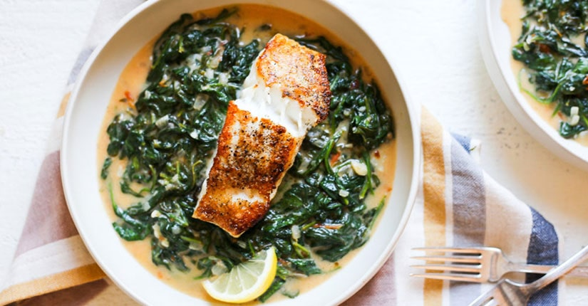 Spinach Stuffed Baked Tilapia