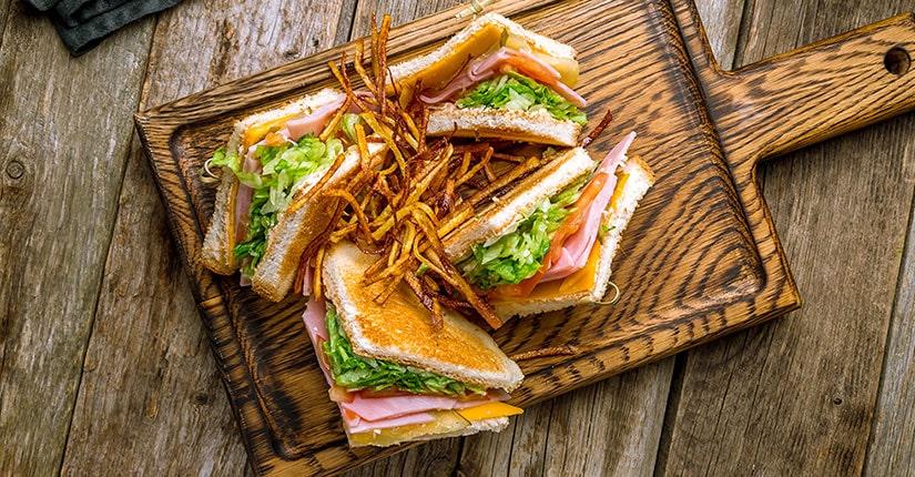 Healthy Green Club Sandwich
