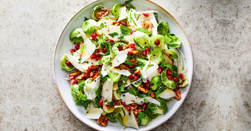 Brussel Sprouts and Sliced Apple Mix
